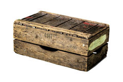 Wooden crate. Royalty Free Stock Photography