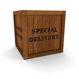 Wooden Crate - Special Delivery Stock Images