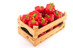 Wooden crate with vegetables royalty free stock images