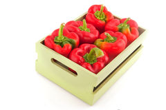Wooden crate with vegetables Stock Photos