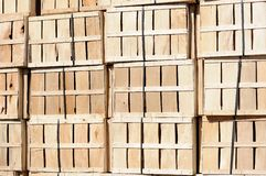 Wooden crate wall Stock Photo