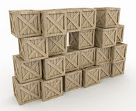 Wooden Crate Wall Royalty Free Stock Photo