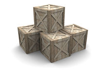 Wooden crates Stock Photos