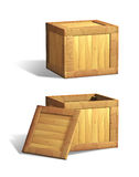 Wooden crates Royalty Free Stock Image