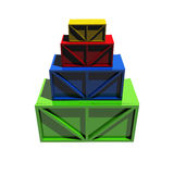 Wooden crates Royalty Free Stock Images