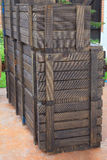 Wooden crates Stock Images