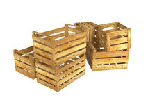 Wooden crates Royalty Free Stock Photos