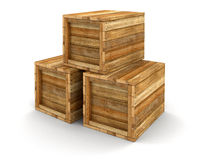 Wooden crates (clipping path included) Stock Images
