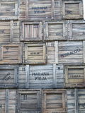 Wooden crates in old Havana Royalty Free Stock Images