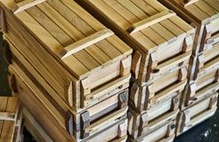 Wooden crates for small things Royalty Free Stock Photography