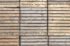 Wooden crates. Royalty Free Stock Photo