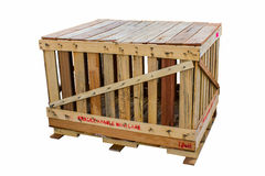 The wooden crates. Stock Image