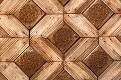 Wooden craved background Stock Photos