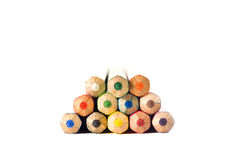 Wooden crayon stack Royalty Free Stock Photo