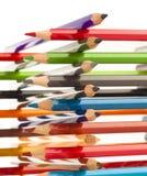 Wooden crayons Royalty Free Stock Photos