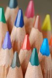 Wooden crayons royalty free stock photo