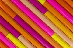 Wooden crayons as background picture Stock Photos