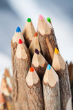 Wooden crayons Stock Image