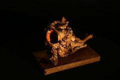 Wooden creation. Art, hand-made, sculpture Royalty Free Stock Photography