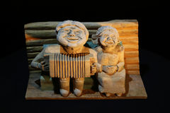 Wooden creation. Art, hand-made, sculpture Stock Image
