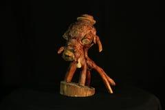 Wooden creation, wood, дерево, искусство, wooden head, art, hand-made, sculpture Royalty Free Stock Photos