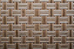 Wooden crisscross wicker matting close up view.  royalty free stock image