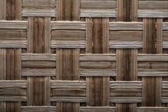 Wooden crisscross wicker matting horizontal version Stock Photos