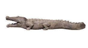 Wooden crocodile Royalty Free Stock Photo