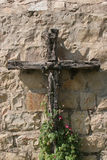 Wooden cross. The Abbey of the Dormition in Jerusalem, Israel Royalty Free Stock Images