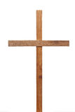 Wooden cross. On white background Royalty Free Stock Images