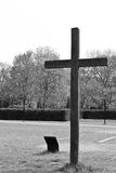 Wooden cross. In a park in Berlin Stock Photos