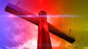 Wooden cross against the sky Royalty Free Stock Photography
