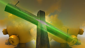 Wooden cross against the sky Stock Photo