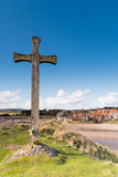 Wooden Cross at Alnmouth Royalty Free Stock Photos