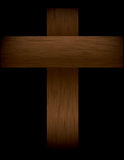 Wooden Cross on Black Illustration Royalty Free Stock Photo