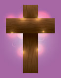 Wooden Cross Illustration Royalty Free Stock Photography