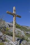 Wooden cross in  Istarske Toplice Royalty Free Stock Photos