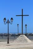 Wooden cross in Les Saintes Maries de la Mer, France Royalty Free Stock Photos