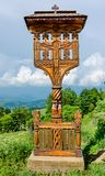 Wooden cross from Maramures, Romania Royalty Free Stock Images