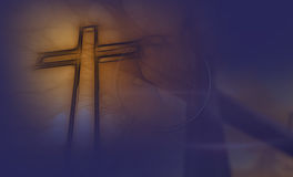 Wooden cross in night Royalty Free Stock Photo