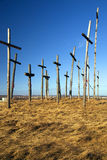 Wooden crosses Royalty Free Stock Image