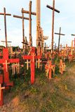 Wooden crosses. Christianity. Wooden crosses, located in the countryside. Christianity Royalty Free Stock Photography