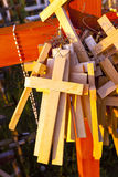 Wooden crosses . Christianity Stock Photos
