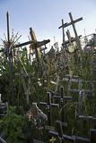 Wooden Crosses At Lithuanian Graveyard Royalty Free Stock Photos