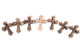 Wooden crosses Royalty Free Stock Images