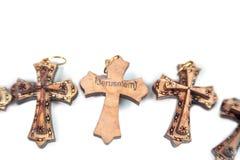 Wooden crosses Stock Photos