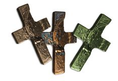 Wooden crosses Royalty Free Stock Photo