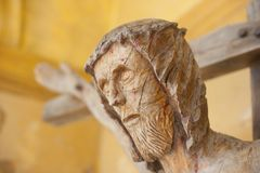 Wooden crucifix Royalty Free Stock Photography