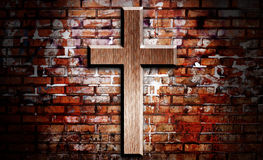 Wooden crucifix Stock Photo