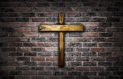 Wooden crucifix. Royalty Free Stock Photo